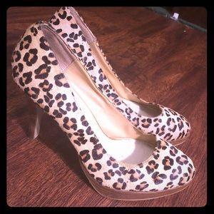 Pony Hair Leopard Print Heels - Bakers Jacinda